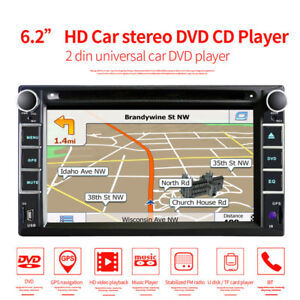 "6.2"" Double 2Din Car Stereo Radio CD DVD Player GPS Bluetooth USB W/Rear Camera"