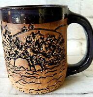 Fishing Mug 1980 NA Eastman Fisherman Coffee Tea Cup Vintage Handmade 3d