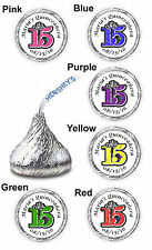 108 QUINCEANERA 15 BIRTHDAY PARTY FAVORS KISS KISSES CANDY LABELS STICKERS