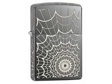 Zippo 28527 spider web black ice chrome Lighter