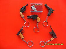 3 TOY CAP GUN KEYRING KEY RING ACCESSORY REWARD FAVOUR PARTY SOUVENIR GIFT TOY L