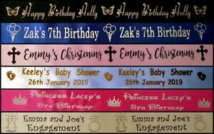 PERSONALISED satin cake ribbon, Gift Wrap 50mm wide. Increments of 1 metre.