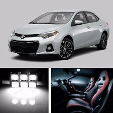 9pcs LED Xenon White  Light Interior Package Kit for  Toyota Corolla 2014-2016