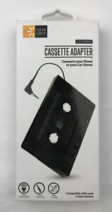 CASE LOGIC Universal Cassette Adapter Connects Your Phone To Car Stereo Black