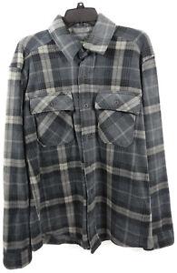 Men Outdoor Life Polar Fleece Shirt Jacket Medium Western Chest Pockets