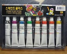 Stained Glass Tubes Paint 8 colors Package / Tube Painting Kit 7.5ml M_o