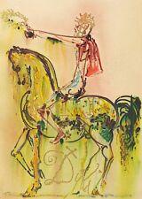 Salvador Dali - The Roman Cavalier (signed lithograph, 1983)