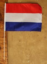 Stock-Flagge/Fahne Niederlande ca.37 x 27 cm Polyester & Holzstab ca.50 cm
