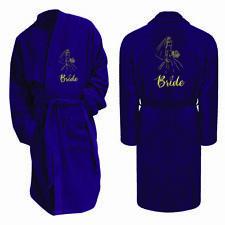 Embroidered Bride Wedding Bath Robe Dressing Gown Girls Womens Bath Robe Wear