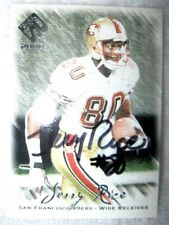 JERRY RICE 2000 PRIVATE STOCK AUTO AUTOGRAPHED CARD WITH COA-49ERS WR AUTO