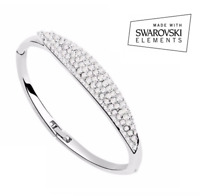 Bracciale Tennis Donna SWAROVSKI Elements Argento Strass Braccialetto Idea Regal
