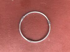 Argento Sterling Bali Balinese Bracciale Bangle gioielli 925