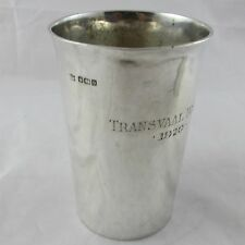 ANTIQUE SOLID SILVER BEAKER SHOOTING TROPHY TRANSVAAL BISLEY 1920