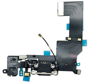 FOR iPHONE 5s  BLACK CHARGING USB DOCK PORT AND AUDIO JACK CONNECTOR FLEX