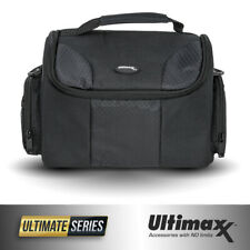 Deluxe Fully Padded Water Resistant Gadget Bag Case for Camera (Large, Black)