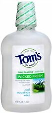 Tom's of Maine Wicked Fresh! Mouthwash Cool Mountain Mint 16 oz (Pack of 8)