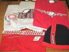 NASCAR CHASE AUTHENTICS KASEY KAHNE #9 Lot of 4 T-Shirts Size XL & Beanie Hat