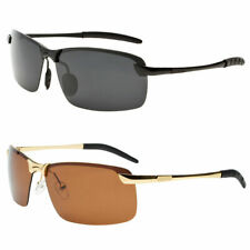 New Metal Pilot Polarized Classic Retro Men Fashion Vintage Sunglasses Black