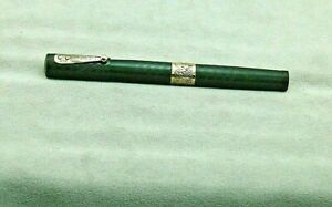 CIRCA 1905 WATERMANS #12 S SAFETY IN BLACK CHASED HARD RUBBER FOUNTAIN PEN