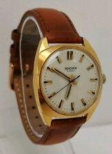 Vtg 1970s Sekonda 17 Jewels Manual Winding Gold Plated Gents Wrist Watch USSR