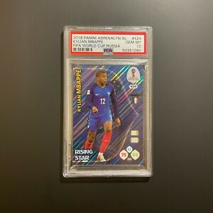 2018 Panini Soccer Adrenalyn XL World Cup #424 Kylian Mbappe RC Rookie PSA 10