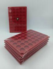 LOT 10 BOX - COLLECTEURS DE RANGEMENT EN FEUTRINE POUR PIECES 40 CASES RONDES