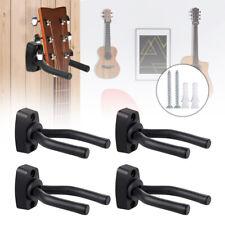 More details for adjustable 4 x guitar hanger wall mount display bracket hook holder bass stands