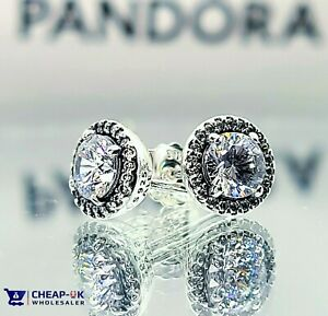 Pandora Stud Earrings 296272CZ with Clear CZ- RRP £70 Classic Elegance + POUCH