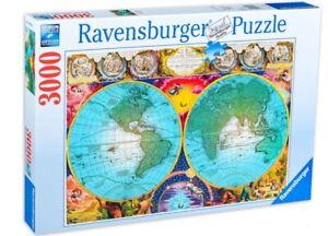 """NEW RAVENSBURGER Jigsaw Puzzle 3000 Tiles Pieces """"Antique Map"""""""