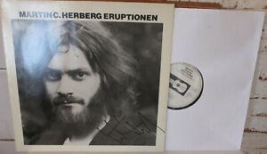 Martin C. Herberg – Eruptionen LP, signiertes Exemplar