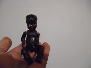 Rare ancien poupon Noir poupée mini Terre 15 cm