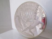 Moneda plata fina 999 milésimas. Mundial México 1986. Jamaica. 100 dólares
