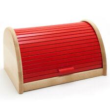 Holzfee BK-RB Rot / Buche Brotkasten 39cm Holz Brotbox Brot Rollkasten Brotkiste