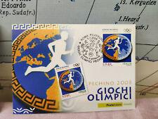 Cartolina Olimpiadi Pechino Beijing 2008 Francobollo Timb Roma Filatelico L5 ER