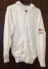 90S Vintage Best Polo Sport Ralph Lauren Men's Hoodie White Medium