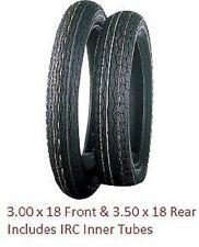 New Tires Tube Tire Set IRC GS-11 3.00 18 & 3.50 18 Honda CB350 Yamaha RD350