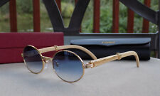 Cartier Smooth Blue Lens Limited Whitewood Buffalo C Décor Sungles