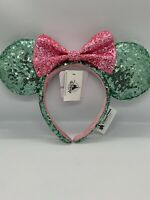 Official DISNEY Parks WDW ~ Mint Green & Pink ~ Minnie Mouse Ears ~ Headband New