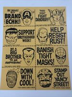 M.M.M.S. Marvel fan club uncut stamps-full page-Thor-Human Torch-vintage 1967