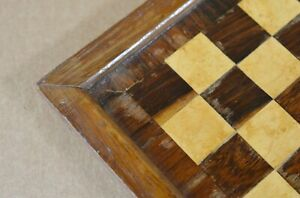 ANTIQUE OR VINTAGE ENGLISH CHESS BOARD