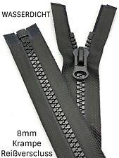 Wasserdichte Reißverschluss verdrehte Reißverschluss Teilbar 80 cm in Schwarz