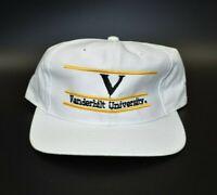 Vanderbilt University Commodores The Game Split Bar Vintage 90s Snapback Cap Hat