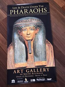Egypt Art Gallery Exhibition Poster, Ancient Pharaoh Mummy Antiquities Tour 2007