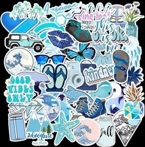 UK Seller VSCO Stickers 50Pcs Blue Aesthetic stickers for hydro flask laptop NEW