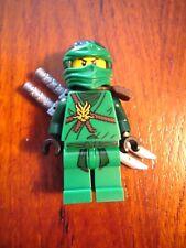 LEGO Exclusive Ninjago LLOYD Green Ninja Minifigure Dragon 2 Silver Swords RARE