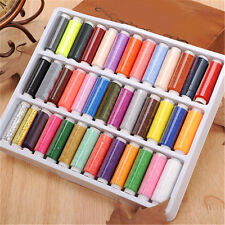 39Pcs Mixed Colors Polyester Sewing Thread Machine Hand 200 Yard /Spool With Box