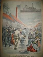 ANICHE MINE FOSSE FENELON RUSSIE TSAR CROYANCE POPULAIRE LE PETIT PARISIEN 1900