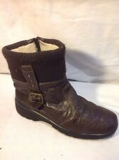 Rieker Brown Ankle Leather Boots Size 38
