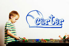 Baseball Boys Name Wall Decal Nursery Vinyl Sticker Sport Kid TeensDecor T72