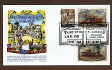 2019 TRANSCONTINENTAL RAILROAD - 3 STAMPS ON ENVELOPE - PANDA CACHET - FDC